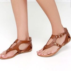 Madden girl sukiee cognac gladiator sandals